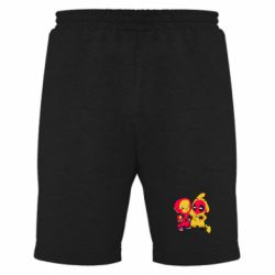 Мужские шорты Pikachu and deadpool