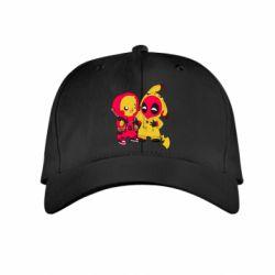 Детская кепка Pikachu and deadpool