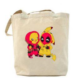 Сумка Pikachu and deadpool