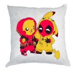 Подушка Pikachu and deadpool
