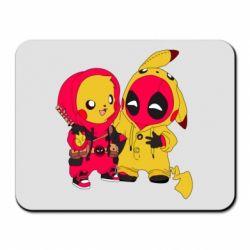 Коврик для мыши Pikachu and deadpool
