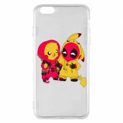 Чехол для iPhone 6 Plus/6S Plus Pikachu and deadpool