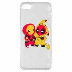 Чехол для iPhone5/5S/SE Pikachu and deadpool