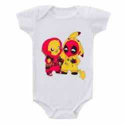 Дитячий бодік Pikachu and deadpool 696041edf54dd