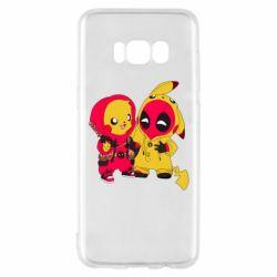 Чехол для Samsung S8 Pikachu and deadpool