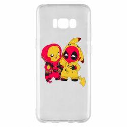 Чехол для Samsung S8+ Pikachu and deadpool