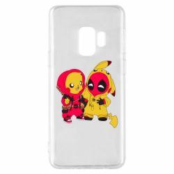 Чехол для Samsung S9 Pikachu and deadpool