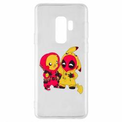 Чехол для Samsung S9+ Pikachu and deadpool