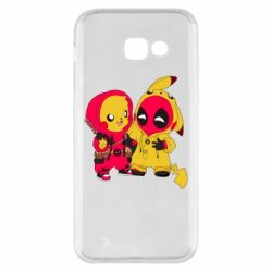 Чехол для Samsung A5 2017 Pikachu and deadpool