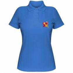 Женская футболка поло Pikachu and deadpool