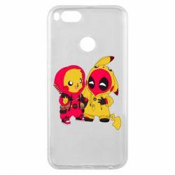 Чехол для Xiaomi Mi A1 Pikachu and deadpool