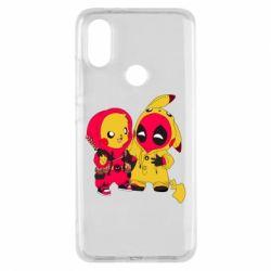 Чехол для Xiaomi Mi A2 Pikachu and deadpool