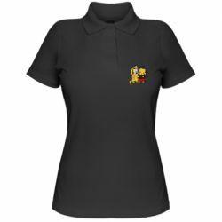 Женская футболка поло Пикачу и Микки Маус