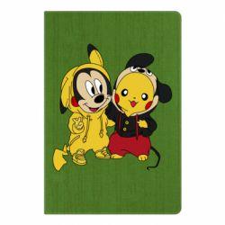 Блокнот А5 Пикачу и Микки Маус