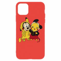 Чехол для iPhone 11 Пикачу и Микки Маус