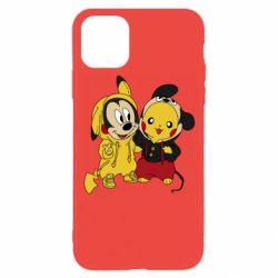 Чехол для iPhone 11 Pro Пикачу и Микки Маус