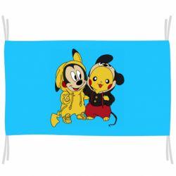 Флаг Пикачу и Микки Маус