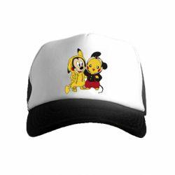 Детская кепка-тракер Пикачу и Микки Маус