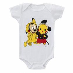 Детский бодик Пикачу и Микки Маус