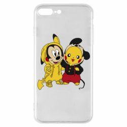 Чехол для iPhone 7 Plus Пикачу и Микки Маус