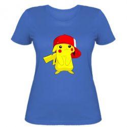Женская футболка Pikachu in a cap