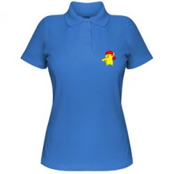 Женская футболка поло Pikachu in a cap