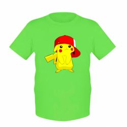 Дитяча футболка Pikachu in a cap