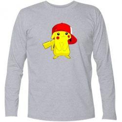 Футболка с длинным рукавом Pikachu in a cap