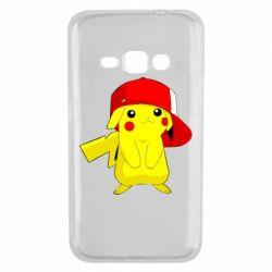 Чехол для Samsung J1 2016 Pikachu in a cap