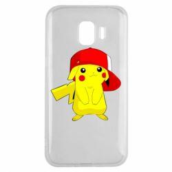 Чехол для Samsung J2 2018 Pikachu in a cap
