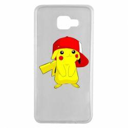 Чехол для Samsung A7 2016 Pikachu in a cap