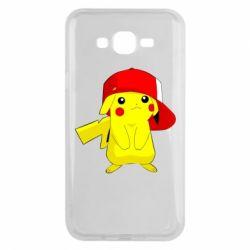 Чехол для Samsung J7 2015 Pikachu in a cap