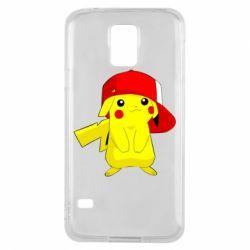 Чехол для Samsung S5 Pikachu in a cap