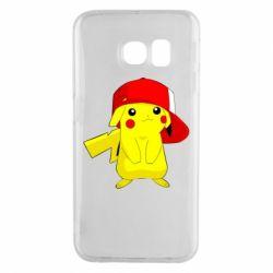 Чехол для Samsung S6 EDGE Pikachu in a cap