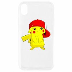 Чехол для iPhone XR Pikachu in a cap