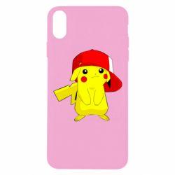 Чехол для iPhone Xs Max Pikachu in a cap