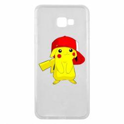 Чехол для Samsung J4 Plus 2018 Pikachu in a cap