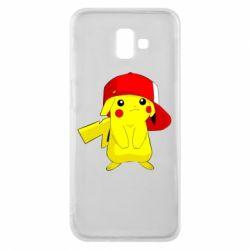 Чехол для Samsung J6 Plus 2018 Pikachu in a cap