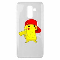 Чехол для Samsung J8 2018 Pikachu in a cap