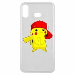 Чехол для Samsung A6s Pikachu in a cap
