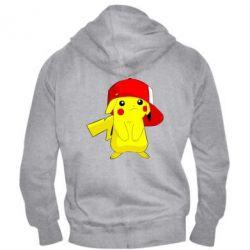 Мужская толстовка на молнии Pikachu in a cap