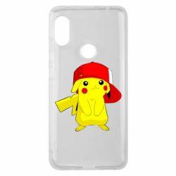 Чехол для Xiaomi Redmi Note 6 Pro Pikachu in a cap