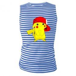 Майка-тельняшка Pikachu in a cap
