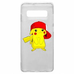 Чехол для Samsung S10+ Pikachu in a cap