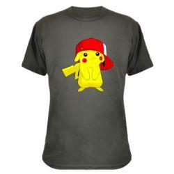 Камуфляжная футболка Pikachu in a cap