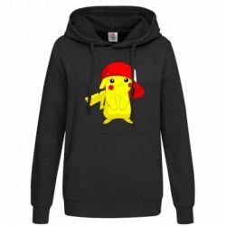 Женская толстовка Pikachu in a cap