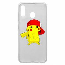 Чехол для Samsung A20 Pikachu in a cap