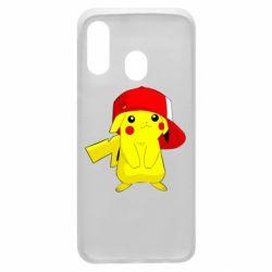 Чехол для Samsung A40 Pikachu in a cap