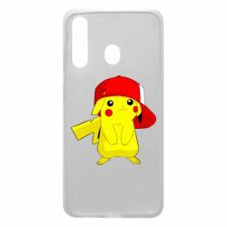 Чехол для Samsung A60 Pikachu in a cap