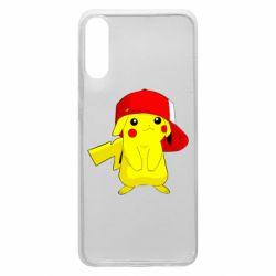 Чехол для Samsung A70 Pikachu in a cap